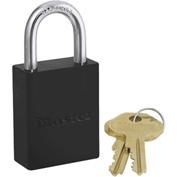 Master Lock® Safety 6835 Series Aluminum Lockout Padlock, Black, 6835BLK