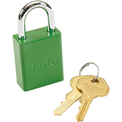 Master Lock® Safety 6835 Series Aluminum Padlock, Green, 6835GRN