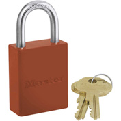 Master Lock® Safety 6835 Series Aluminum Padlock, Hi-Vis Orange, 6835ORJ
