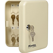 "Master Lock® Key Storage Cabinet, Holds 20-Keys, 7-3/4""W x 3""D x 6-1/4""H, with 2 Keys"