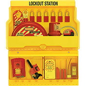 Master Lock® Deluxe Lockout Station With Valve and Electrical Lockout Devices, S1900VE1106