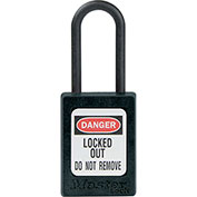 """Master Lock® Thermoplastic Dialectric Zenex™ S32BLK Safety Padlock, 1-3/8""""W x 1-1/2""""H BLK"""