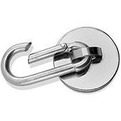 Master Magnetics Neodymium Magnetic Carabiner Hook 07587 - 45 Lbs. Pull Nickel/Chrome Plating