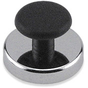 Master Magnetics Ceramic Round Base Magnets  HMKR-45 with Knob 16 Lbs. Pull Nickel - Chrome Plating