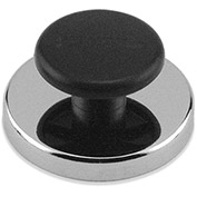 Master Magnetics Ceramic Round Base Magnets HMKR-70 with Knob 65 Lbs. Pull Nickel | Chrome Plating