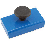 Master Magnetics Ceramic Rectangular Base Magnets HMKS-A with Knob 20 Lbs. Pull Blue Powder Coat