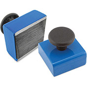 Master Magnetics Ceramic Rectangular Base Magnets HMKS-B with Knob 15 Lbs. Pull Blue Powder Coat