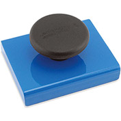 Master Magnetics Ceramic Rectangular Base Magnets HMKS-E with Knob 45 Lbs. Pull Blue Powder Coat