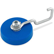 Master Magnetics Ceramic Reversible Magnetic Hook MHHH25HOOK 25 Lbs. Pull Blue Plastic Housing
