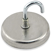 Master Magnetics Neodymium Magnetic Hook NA012500N - 40 Lbs. Pull Nickel - Chrome Plating