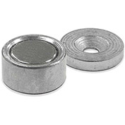 Master Magnetics Neodymium Latch Magnet NMLKIT2 - 6 Lbs. Pull Nickel |Chrome Plating