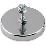 Master Magnetics Neodymium Mount-It Magnet RB50B3N-NEO with Attached Screw and Nuts 90 Lbs. Pull