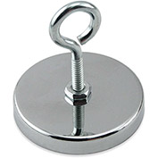 Master Magnetics Neodymium Hang-It Magnet RB50EBNEO with Attached Eyebolt 90 Lb. Pull Chrome Plating