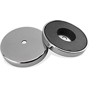 Master Magnetics Ceramic Round Base Magnet RB70CBX - 65 Lbs. Pull