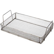 "Marlin Steel Wire Mesh Basket 02035001-38 - 18-1/4""L x 11-3/4""W x 5-3/4""H Stainless Steel, Natural"