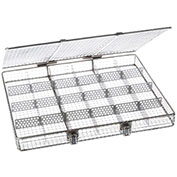 "Marlin Steel Wire Mesh Basket 02035003-38 - 20-1/4""L x 17-3/16""W x 2-1/2""H Stainless Steel, Natural"