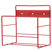 "Marlin Steel 1431003-05, Steel Wall Rack, 1x1 Gallon, 8-1/8""W x 8""D x 5-1/2""H, Red"