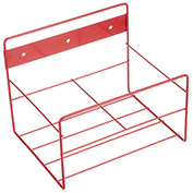"Marlin Steel 1431004-05, Steel Wall Rack, 2x1 Gallon, 8-1/16""W x 8""D x 10-1/4""H, Red"