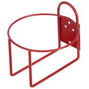 "Marlin Steel 1431006-05, Steel Round Wall Bracket, 1 Gallon, 3/4""W x 6""D x 2-3/4""H, Red"
