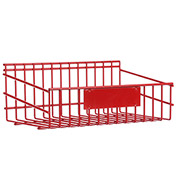 "Marlin Steel 1431010-05, Steel Rack, 6 Quart, 10-3/4""W x 4-9/16""D x 11-1/8""H, Red"