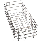 "Marlin Steel Wire Basket 778002-39 - Electropolished Stainless Steel - 20-1/2""L x 8""W x 6""H"