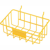 "Marlin Steel 920-06, Slanted Pegboard Wire Basket with Name Plate, , 5""W x 8""D x 4""H, Yellow - Pkg Qty 20"