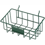 "Marlin Steel 920-08, Slanted Pegboard Wire Basket with Name Plate, , 5""W x 8""D x 4""H, Green - Pkg Qty 20"