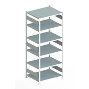 "Meta Storage 183083 CLIP S3 Shelving Basic Rack Unit 6xMS230-II  51""W x 31""D x 98""H Galvanized"