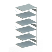 "Meta Storage 183084 CLIP S3 Shelving Add-on Rack Unit-on 6xMS230-II  51""W x 31""D x 98""H Galvanized"