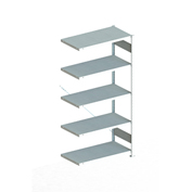 "Meta Storage 183837 CLIP S3 Add-on Rack Unit 39""W x 20""D x 73""H (5xV150 Shelves) Galvanized"