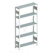 "Meta Storage 183839 CLIP S3 Basic Rack Unit  39""W x 12""D x 86""H (5xV150 Shelves) Galvanized"
