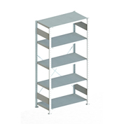 "Meta Storage 183841 CLIP S3 Basic Rack Unit 39""W x 20""D x 86""H (5xV150 Shelves) Galvanized"