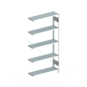 "Meta Storage 183843 CLIP S3 Add-on Rack Unit 39""W x 12""D x 86""H(5xV150 Shelves) Galvanized"