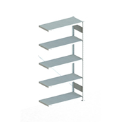 "Meta Storage 183844 CLIP S3 Add-on Rack Unit 39""W x 16""D x 86""H (5xV150 Shelves) Galvanized"