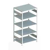 "Meta Storage 183869 CLIP S3 Basic Rack Unit 51""W x 32""D x 73""H (5xV230 Shelves) Galvanized"