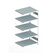 "Meta Storage 183882 CLIP S3 Add-on Rack Unit 39""W x 31""D x 73""H (5xV230 Shelves) Galvanized"