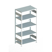 "Meta Storage 183893 CLIP S3 Basic Rack Unit 39""W x 24""D x 86""H (5xV230 shelves) Galvanized"