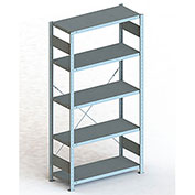 Meta Storage 362023087S CLIP S3 Basic rack unit 87''H x 36''W x 20''D (5xMS230 shelves) Galvanized