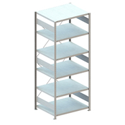 "Meta Storage 88732 CLIP S3 Shelving Basic Rack Unit 6xMS230-II  39""W x 31""D Galvanized"