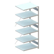 "Meta Storage 88747 CLIP S3 Shelving Add-on Rack Unit-on 6xMS230-II 39""W x  31""D Galvanized"