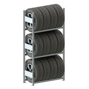 Meta Storage CLIP S3 Tire Rack Basic 79''H x 36''W x 16''D Galvanized
