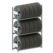Meta Storage CLIP S3 Tire Rack Basic 79''H x 48''W x 16''D Galvanized