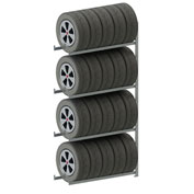Meta Storage CLIP S3 Tire Rack Add-On 98''H x 48''W x 16''D Galvanized