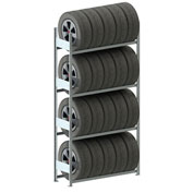 Meta Storage CLIP S3 Tire Rack Basic 98''H x 48''W x 16''D Galvanized