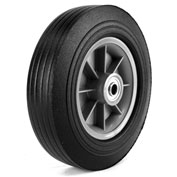 "Martin Wheel 10"" Heavy Duty Wheel ZP1102RT-2C2 - 10 x 2.75 - 2-1/4"" x 5/8"" Centered Hub - Rib Tread"