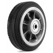 "Martin Wheel 6"" Heavy Duty Wheel ZP61RT-325 - 6 x 2.00 - 1/2"" BB x 2-1/2"" Centered Hub - Rib Tread"