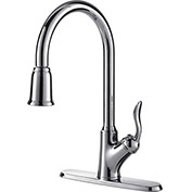 """Ultra Faucets 1 Handle Kitchen Faucet W/Pull-Down Spray, UF13303 SS, 16-13/16""""H"""