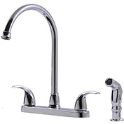"Ultra Faucets 2 Handle Kitchen Faucet W/Side-Spray, UF21040 Chrome, 13""H"