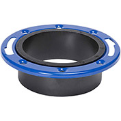 Mueller 02227 4 In. X 3 In. ABS Closet Flange Adjustable W/Metal Ring Epoxy Coated - Hub