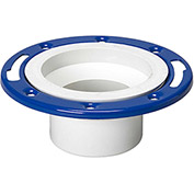Mueller 05228 4 In. X 3 In. PVC Closet Flange Spigot Adjustable W/Metal Ring Epoxy Coated - Spigot